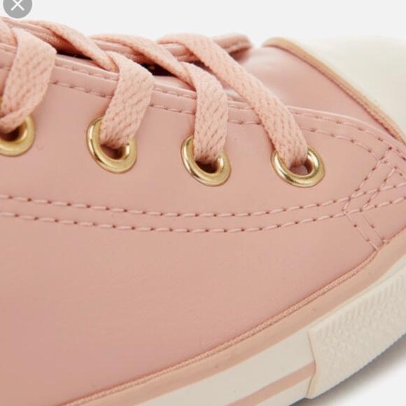 Pink Leather Converse | Poshmark